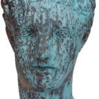 Statua Patina Blu Bronzo